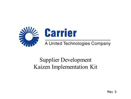 Supplier Development Kaizen Implementation Kit