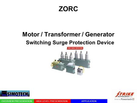 Motor / Transformer / Generator Switching Surge Protection Device