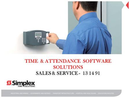 TIME & ATTENDANCE SOFTWARE SOLUTIONS SALES & SERVICE - 13 14 91.