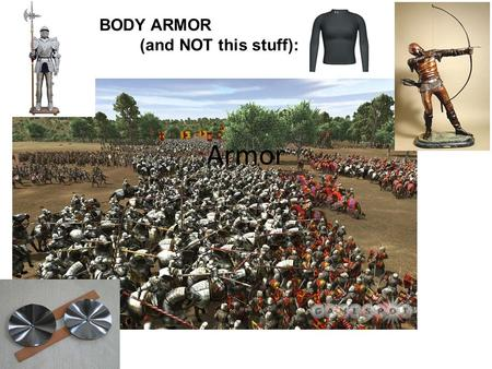 BODY ARMOR (and NOT this stuff): Armor.