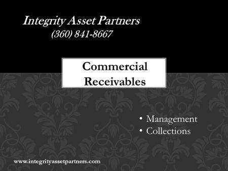 Integrity Asset Partners (360) Commercial Receivables