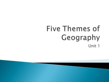 Unit 1. Chapter 1  Geo means Earth  Graph means visual picture  Comes for Ancient Greek  Geography is the study of patterns on the Earth's surface.