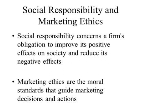 unethical marketing and its consequences And how consumers react to instances of perceived unethical practices we aim  to contribute to the understanding of ethical marketing in the fashion industry.