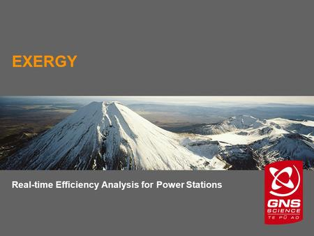 EXERGY Real-time Efficiency Analysis for Power Stations.