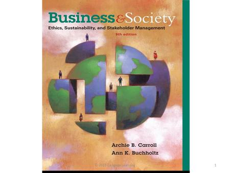 © 2015 Cengage Learning1. Chapter 1 The Business and Society Relationship © 2015 Cengage Learning2.