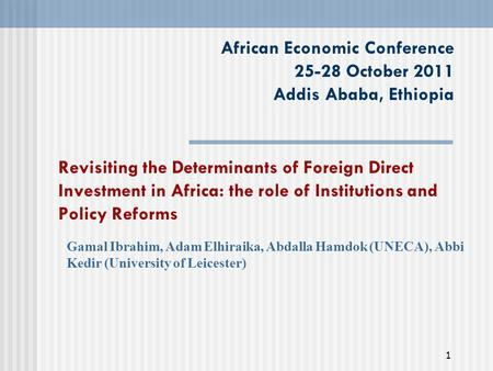determinant of fdi in nigeria Fdi and economic growth: evidence from nigeria by adeolu b ayanwale department of agricultural economics obafemi awolowo university ole-ife, nigeria aerc research paper 165 african economic research consortium, nairobi april 2007 this research study was supported by a grant from the african economic research consortium the findings, opinions and recommendations are those of the author.