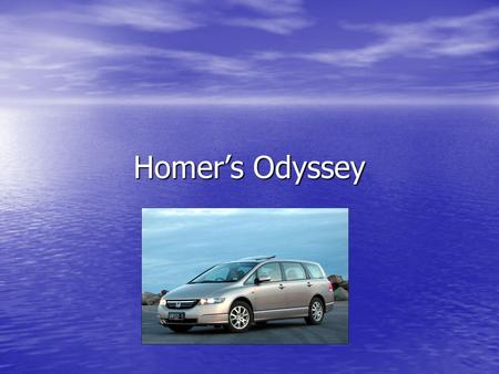 Homer's Odyssey. Goals / Essential Questions Goals: Goals: –Understand the narrative. –Window into the age See themes, next slide See themes, next slide.