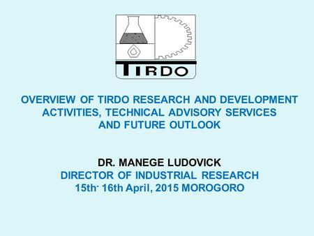 DIRECTOR OF INDUSTRIAL RESEARCH