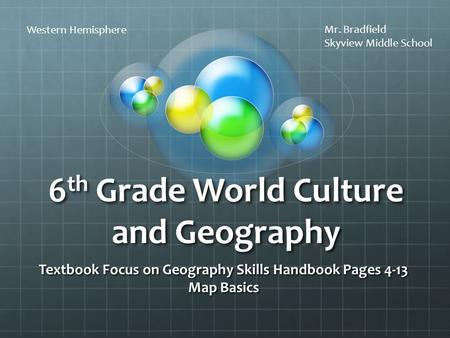 6th Grade World Culture and Geography