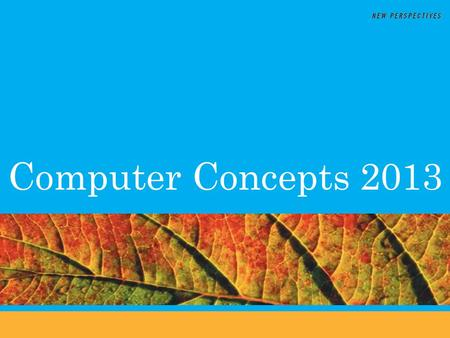 Computer Concepts 2013. Chapter3 & 4 Summary Dr. John P. Abraham Professor.