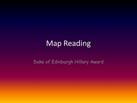 Duke of Edinburgh Hillary Award