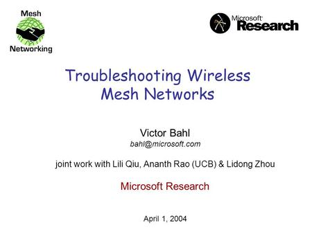 Term paper on wireless network