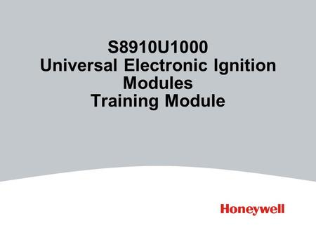 S8910U1000 Universal Electronic Ignition Modules Training Module