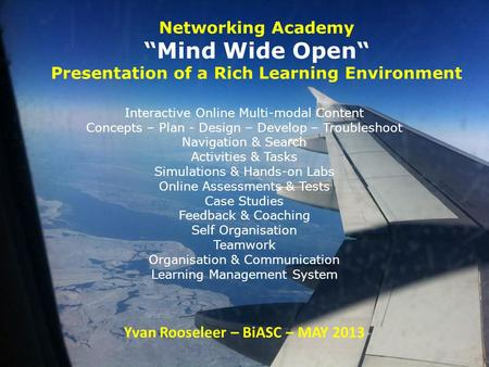 Yvan Rooseleer – BiASC – MAY 2013