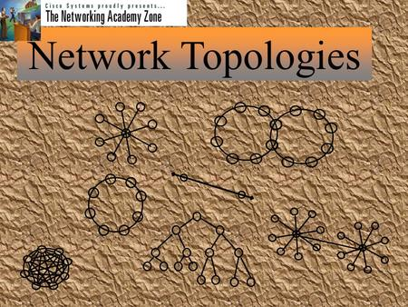 Network Topologies What's in the Works   Define Network Topology   Show models of the three major types.   List advantages and disadvantages. 