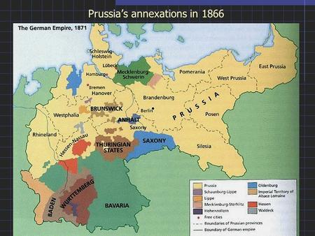 Prussia's annexations in 1866