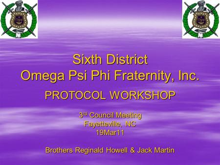 Sixth District Omega Psi Phi Fraternity, Inc.