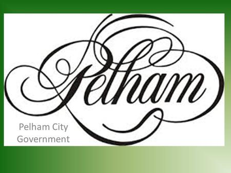 Pelham City Government. Mayor Gary Waters The Mayor's Responsibilities The Mayor is the Chief Executive Officer of the city. He is responsible for the.