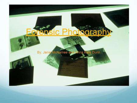 Help with my forensic photography coursework please ?