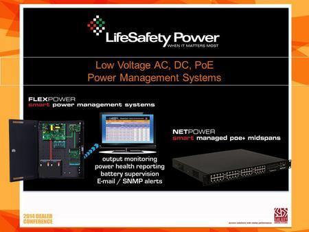 Low Voltage AC, DC, PoE Power Management Systems.