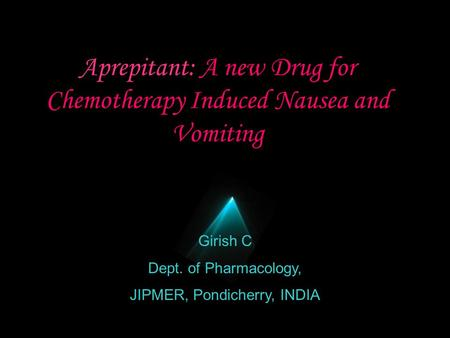 Aprepitant: A new Drug for Chemotherapy Induced Nausea and Vomiting