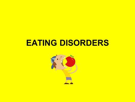 EATING DISORDERS. What is an eating disorder? An eating disorder is a compulsion to eat, or avoid eating, that negatively affects one's physical and mental.