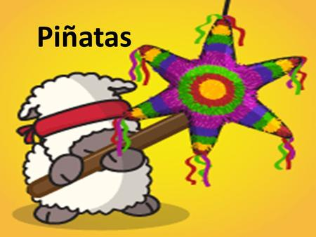 Piñatas. History of the Piñata The piñata is said to have originated at the same time as the Christmas posadas in Mexico. Around this time, some friars.