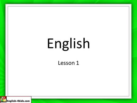 English Lesson 1. Greetings/Introductions/Origins Hi! or Hello! Hola! Good Morning Buenos dias Good Afternoon Buenas tardes Good evening/night Buenas.