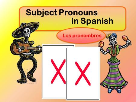 Subject Pronouns in Spanish Los pronombres. Examples: Mike Mike is reading the book. He He is reading the book. Alicia Alicia skates well. She She skates.