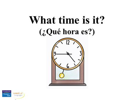 "What time is it? ( ​​ ¿Qué hora es?). When you want to know the time in Spanish, you say ""¿Qué hora es?"" Some people also say ""¿Qué horas son?"""