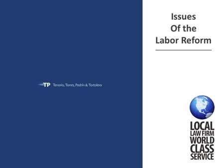 Issues Of the Labor Reform ______________________________.