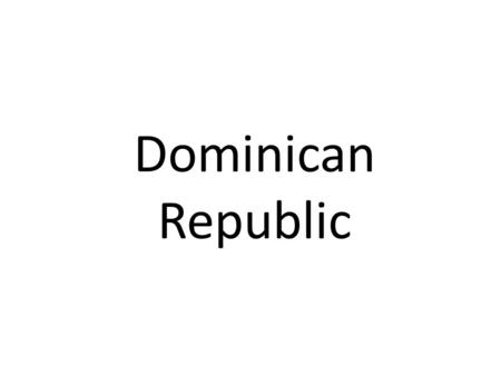 Dominican Republic. -Christopher Columbus reached the island of Hispaniola on his first voyage, in December 1492 -On Columbus second voyage in 1493 the.