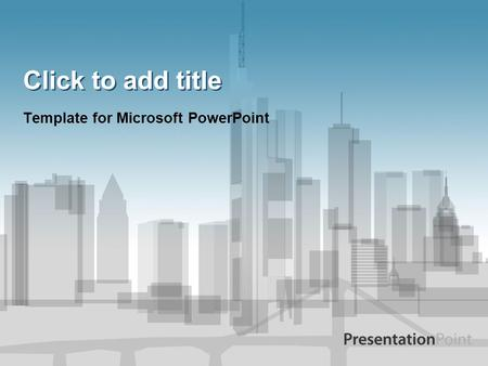 Click to add title Template for Microsoft PowerPoint.