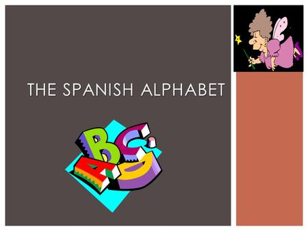 The Spanish Alphabet.