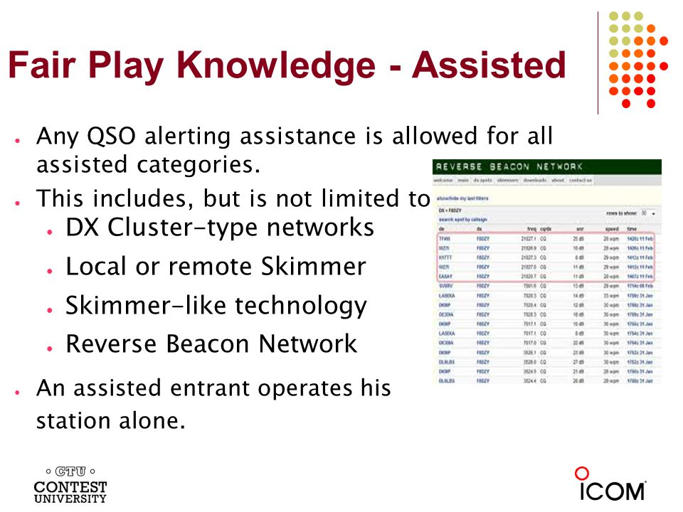 Fair Play Knowledge - Multi Operating in a multi-operator category is lots of fun.