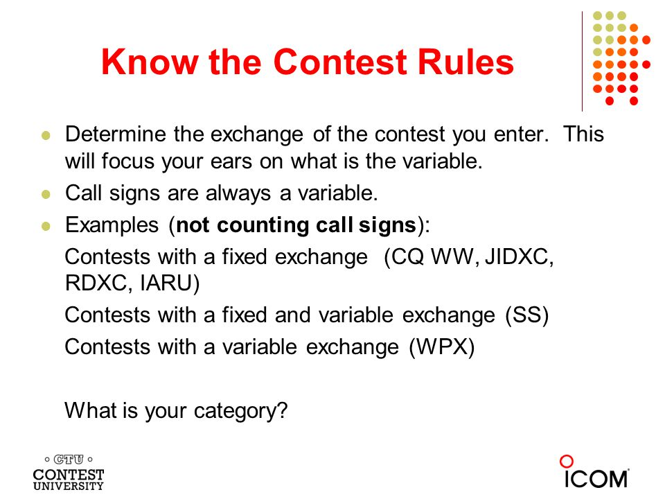 What Exchange Aids can you use During the Contest.