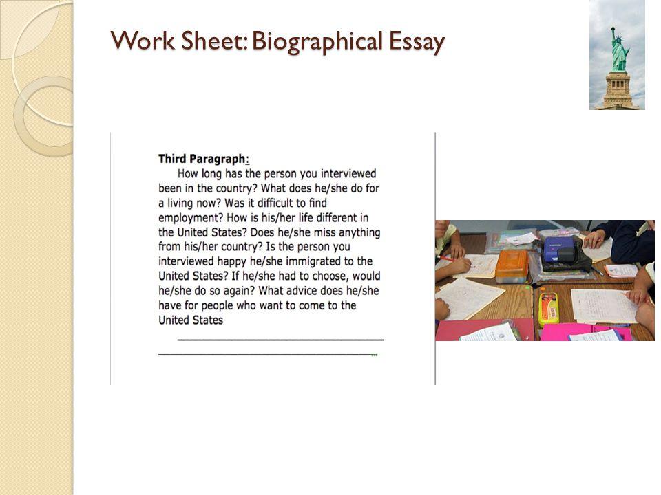 Biographical Essay Rubric