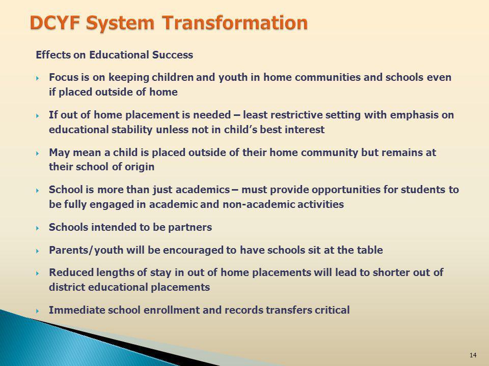 January 27, 2012Fostering Educational Success15
