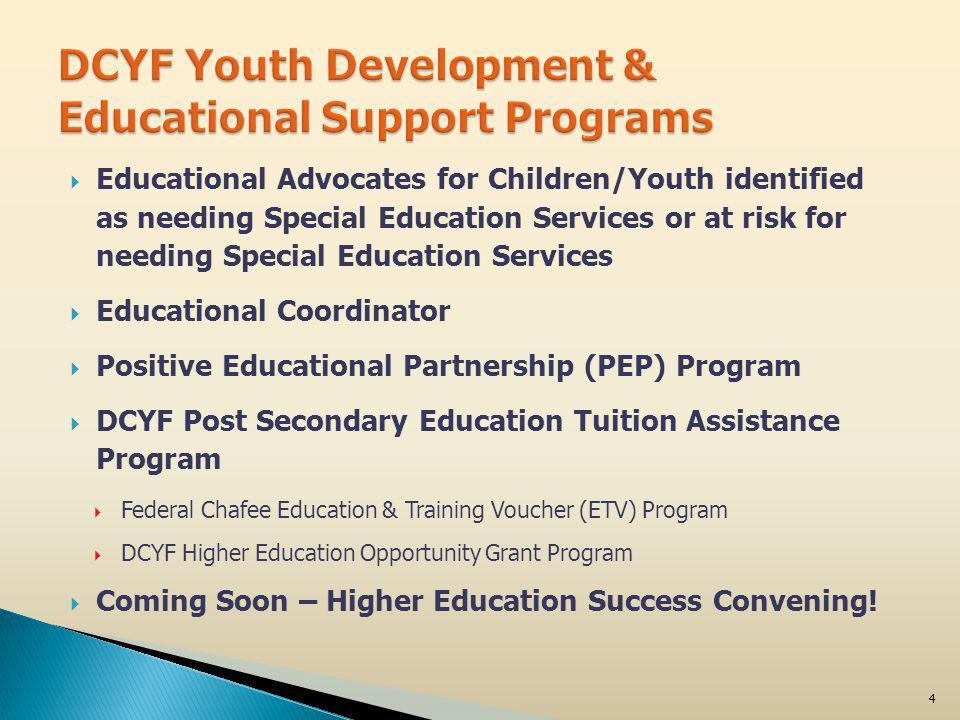 January 27, 2012Fostering Educational Success5