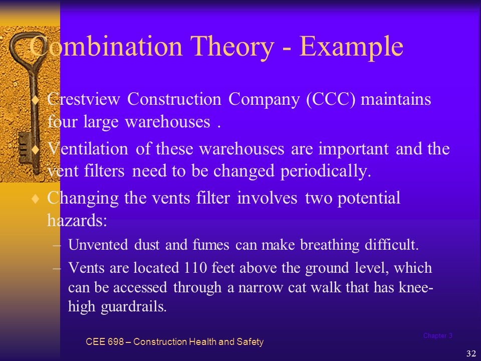 Chapter 3 33 Combination Theory - Example CCC has well defined rules which are strictly enforced.