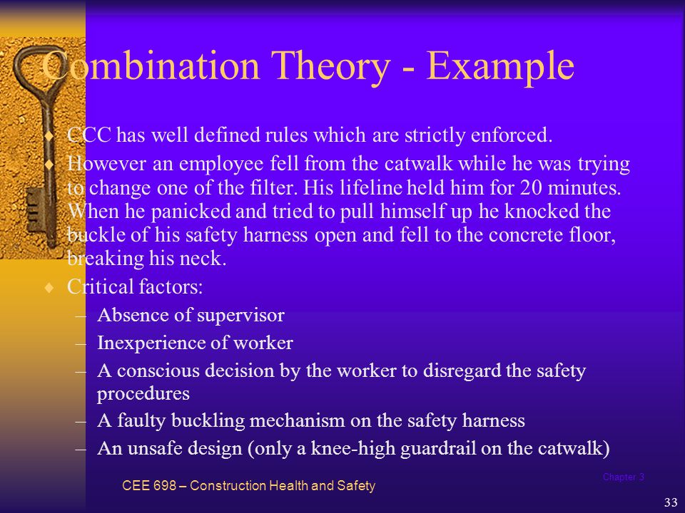 Chapter 3 34 Behavioral Theory CEE 698 – Construction Health and Safety Referred to as Behavior-based safety (BBS) E.