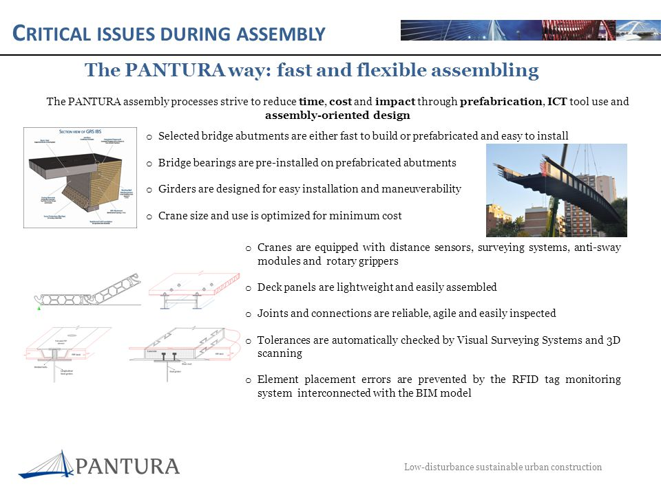 C RITICAL ISSUES DURING ASSEMBLY Low-disturbance sustainable urban construction