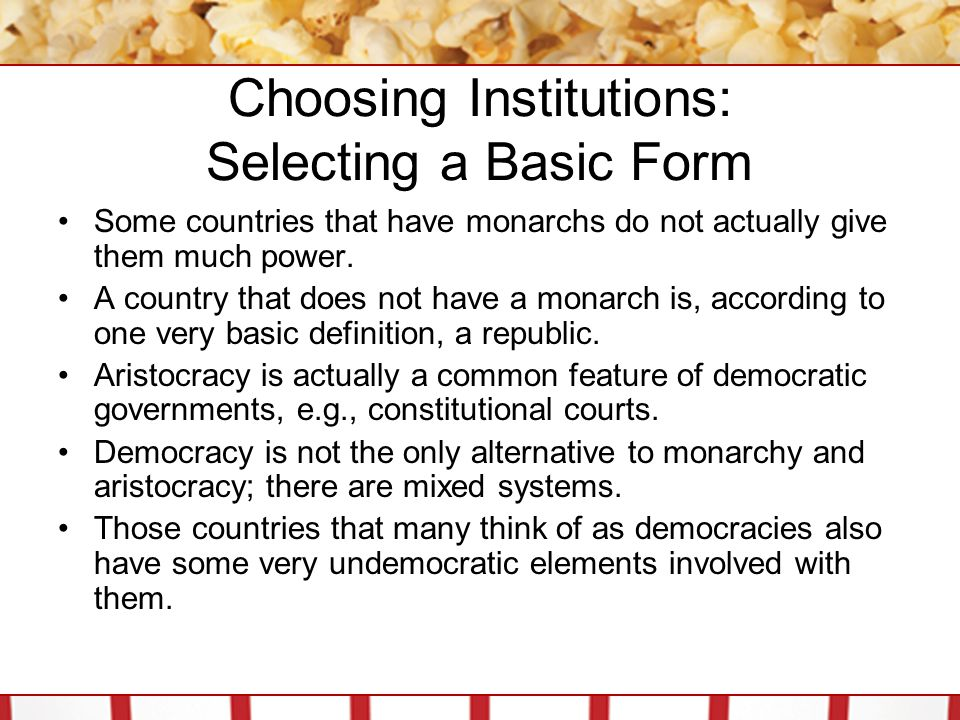 Choosing Institutions: Connect Your Government There are essentially three systems through which the relationship can be ordered; the unitary system, the federal system, and the confederal system.