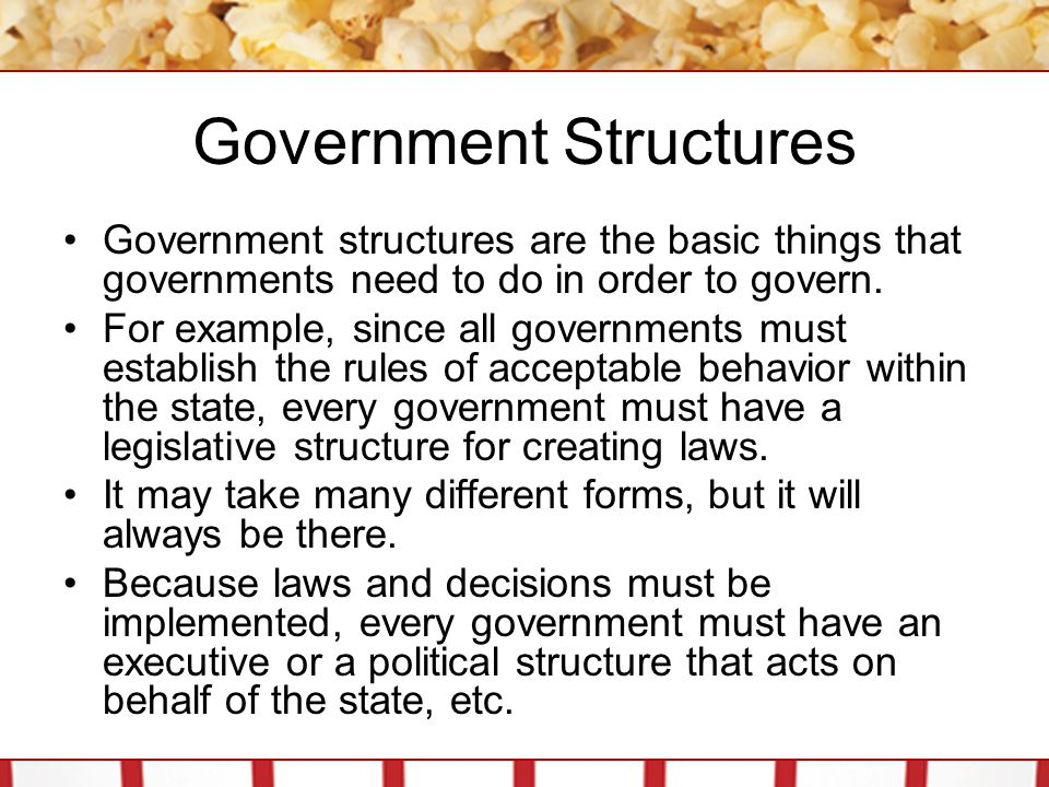 Structures or Institutions.Structures are generic while institutions are specific.