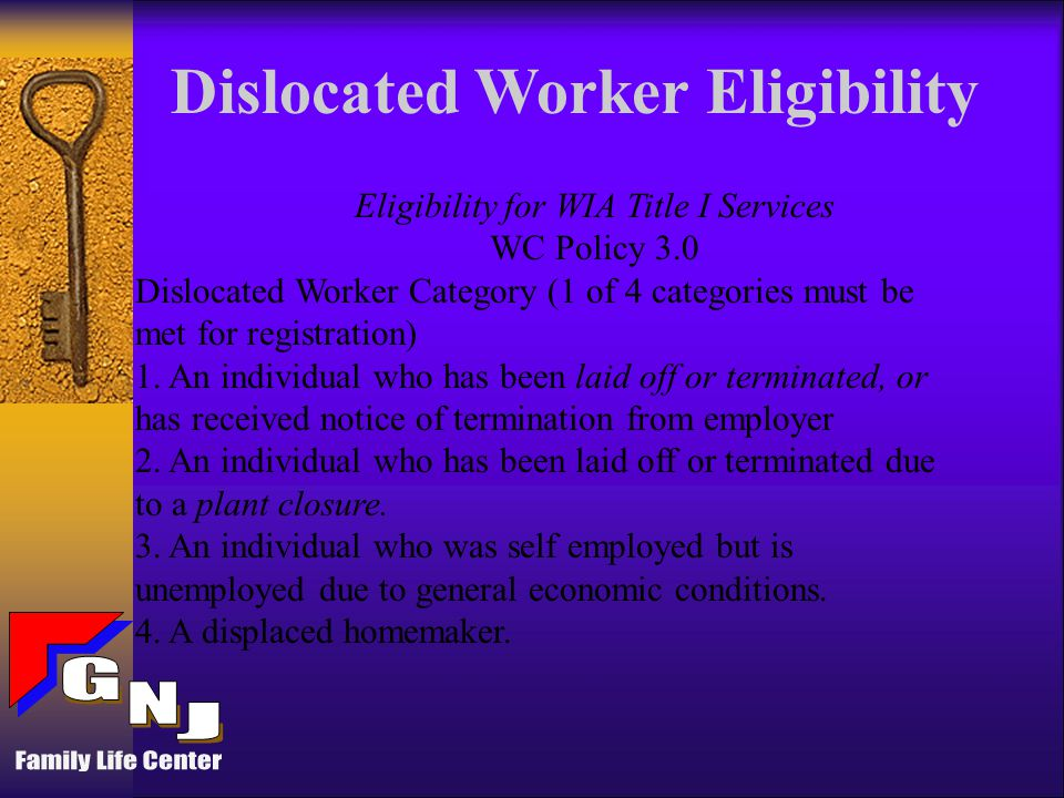 GOALS To increase employment, as measured by entry into unsubsidized employment; To increase retention in unsubsidized employment six months after entry into employment; To increase earnings received in unsubsidized employment for adults and dislocated workers; and To enhance customer satisfaction for participants and for employers.