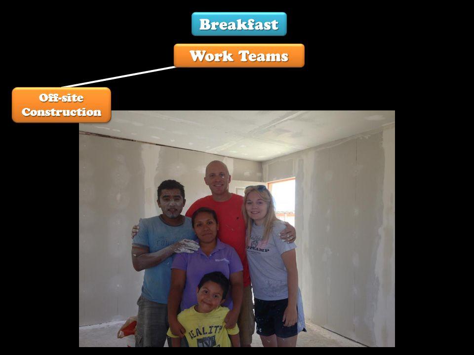 Off-site Construction Breakfast Work Teams