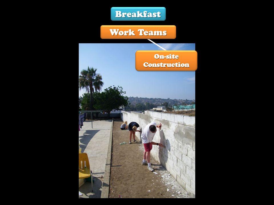 On-site Construction Breakfast Work Teams