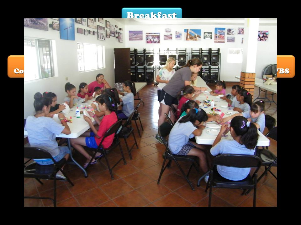 Breakfast Lunch Work Teams Off-site Construction Benevolence On-site Construction Kitchen Pre-School VBS Crafts Playtime With Niños