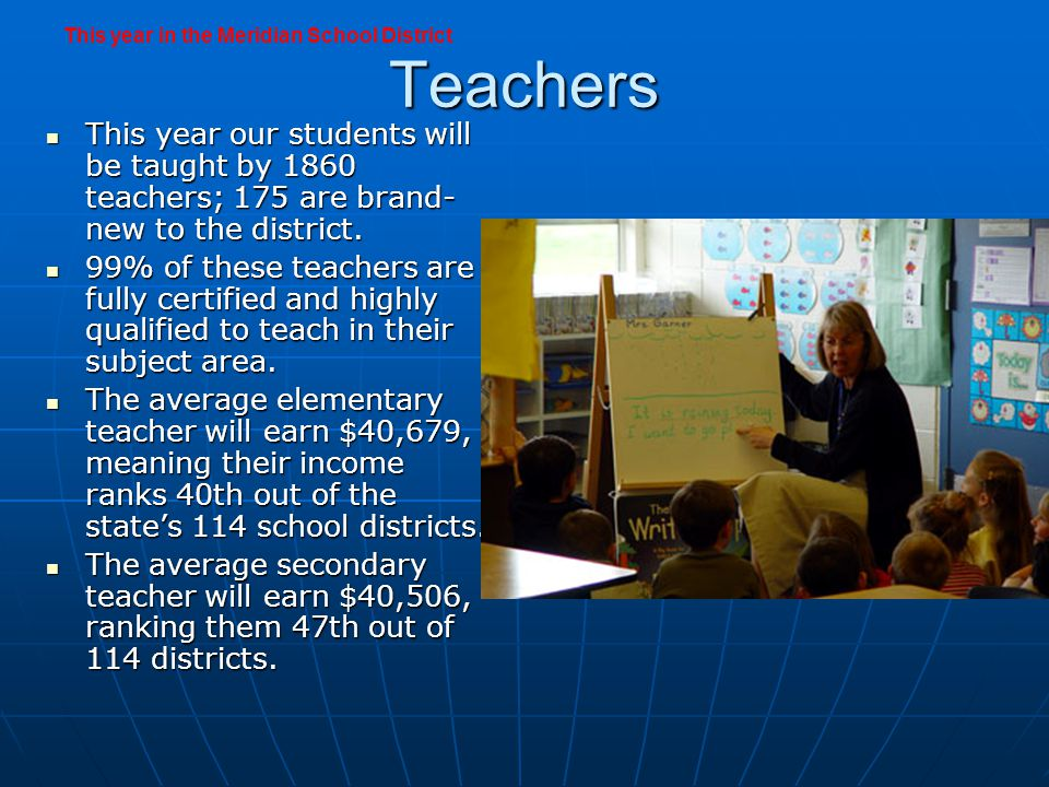 Support Staff Our teachers will be joined by 773 non-certified staff, the library aides, computer aids, special education aids, and bus drivers who work directly with students, plus the food service staff, custodians, and bus driver Our teachers will be joined by 773 non-certified staff, the library aides, computer aids, special education aids, and bus drivers who work directly with students, plus the food service staff, custodians, and bus driver The custodians will clean and maintain 4,060,000 square feet of building space and 755 acres of lawn The custodians will clean and maintain 4,060,000 square feet of building space and 755 acres of lawn The food service staff will serve 3,848,000 meals, approximately 21,000 per day.