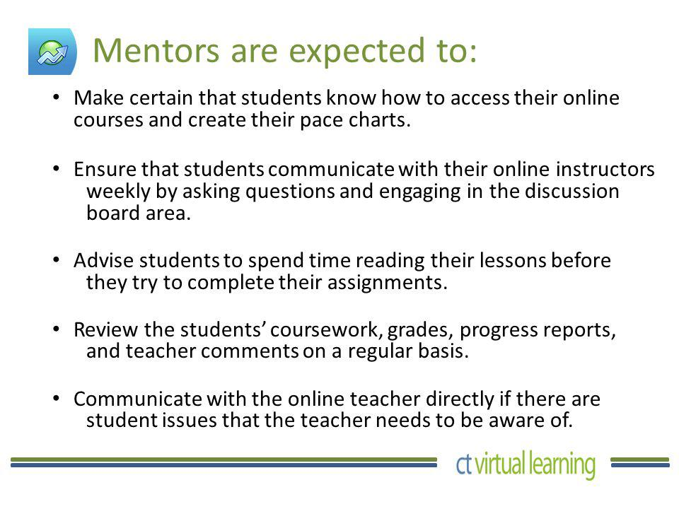 All communication between the student and teacher is done through the course messaging system and discussion boards.